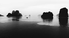 Halong Bay - DSC1627-2 (cleansurf2) Tags: halongbay seascape sea ocean island wallpaper widescreen water wide waterscape background black bw white 16x9 4k resolution reflection retina ilce7m2 ultra emount 3840 aqua sony screensaver surreal contrast glow hd hires landscape mood mirrorless minimual minimalism monotone nature backdrop coast cool exposure vietnam