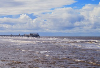 North Pier and the incoming tide.
