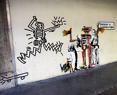 Banksy - Jean-Michael Basquiat (Christian_Davis) Tags: banksy jeanmichael basquiat street art cityoflondon goldenlane ec2