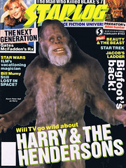 Starlog #163 (1991) - Harry and the Hendersons (Tom Simpson) Tags: starlog 1991 harryandthehendersons 1990s vintage television vintagetelevision yeti bigfoot sasquatch