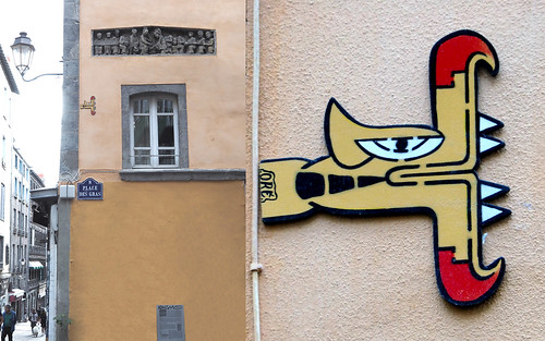 Wall installation by Oré [Clermont-Ferrand, France]