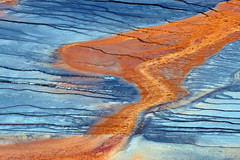 Extremophile bacteria at Grand Prismatic Spring (robmcrorie) Tags: yellowstone park wyoming grand prismatic spring colour blue red orange lava extremophile bacteria geothermal nikon 200500 ed vr d7500