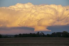 Late season storm (Len Langevin) Tags: storm cell weather alberta canada sunset cloud thunder nikon d300 nokkor 18300