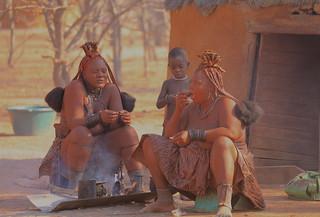 Married Himba Women Himba Village Kamanjab Damaraland Namibia South West Africa