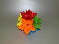 Kusudama Sunshine (triangleorigami) Tags: flower kusudama sunshine origami trigami nguyenlinhson paper foldingpaper