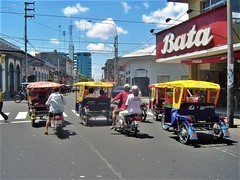 There are thousands of #Rickshaws, #Mototaxis, #Motocarros & #TukTuks in #Iquitos because it's the world's largest city that can not be reached by any roads! Have you been on a rickshaw before? There are many #TreasuresOfTraveling to explore in Iquitos an (TreasuresOfTraveling) Tags: iquitos motocarros rickshaws treasuresoftraveling tuktuks mototaxis rainforest peruvian