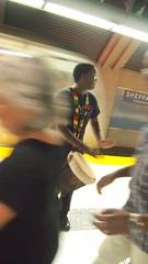 Emancipation Day Train Ride: This morning it was all a blur (stephenweir) Tags: freedomtrain drummer streettheatre streetphotography ttc emancipationday toronto downsview itahsadu canada august1 sheppardaveweststation sheppard drummingin