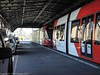 Sydney Light Rail - LRV2120 and LRV2123 meet at the Railway Colonnade - 2 (john cowper) Tags: sydneylightrail lrv2123 lrv2120 railwaycolonnade centralrailwaystation terminus caf urbos3 transportfornsw tramway trams tramstop l1 sydney newsouthwales