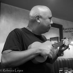 Ukulele Fun (Rebecca Leyva) Tags: busking music solo blackandwhite ukulele