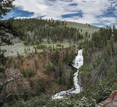 Undine Falls (Yellowstone National Park) (Kᵉⁿ Lᵃⁿᵉ (Instagram: @CarShowShooter)) Tags: geo:lat=4494372642 geo:lon=11064042517 geotagged unitedstates usa adventure clouds deadtrees exploring hill httpsenwikipediaorgwikiyellowstonenationalpark httpswwwnpsgovyell landscape mammoth nationalpark nationalparkservice naturalwonder nature pano panoramic pinetree scenicview sky stitchedimage tourism touristattraction tourists travel travelblog travelphotography travelingadventures usnationalpark usnationalparkservice undine undinefalls unitedstatesnationalpark waterfall worldadventures worldtravel worldsfirstnationalpark wy wyoming yellowstone yellowstonenationalpark yellowstonenp ynp ★excellent★
