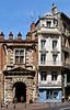 photo - Toulouse Street (Jassy-50) Tags: photo toulouse france hôteldassézat palace bembergfoundation building architecture arch window pastel woad pasteldye shop store hccity balcony