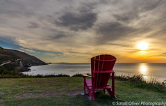 Relax in an Adirondack chair at sunset (SarahO44) Tags: 6d adirondack autumn breton cabot canada canon cape chair colour evening fall highlands island landscape national nature nova outdoors park red road roadtrip scotia sky sunset trail trees view relax reflection