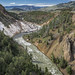 Looking up the Yellowstone River from Calcite Springs Overlook