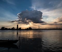 Sunset at The Buriganga River (Sadot Arefin) Tags: buriganga dhaka bangladesh cloud sunset river bank landing stage people photoadd astounding image flickrunitedaward