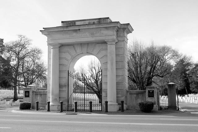 Nashville National Cemetery entrance archway