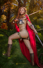 Red Sonja by Jacqueline Goehner (Manny Llanura) Tags: red sonja cosplay cosplayer jacqueline goehner manny llanura photography san diego comiccon 2017 redhead metal bikini dccomics sdcc