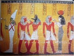 Divinita Nel Vestibolo (pefkosmad) Tags: jigsaw puzzle leisure hobby pastime ricordi new complete 1500pieces ancientegypt mural wall painting heathsidetrading art divinitanelvestibolo