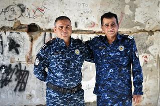 Forest policemen hiding from heat in Saddam Hussein's former villa near Amedi / Iraqi Kurdistan