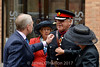 Removing a hair (James O'Hanlon) Tags: captain capt noelchavasse noel chavasse memorial centenary service dignitaries mayor highsheriff sheriff lorna dame muirhead standard bearers crispin crispinpailing st nicks liverpool parish church sword family bishop civic event 2017 august
