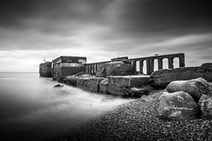 Hastings Harbour Wall (Nathan J Hammonds) Tags: hastings harbour wall monochrome nd filter 10stop bw nikon d750 kent uk long exposure seascape water coast rocks beach contrast moody