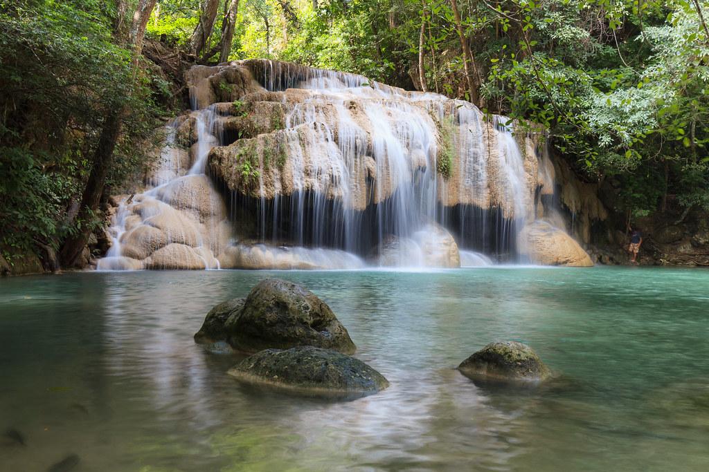Erawan national park. Thailand.