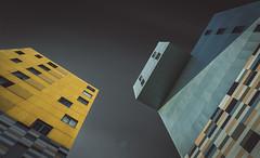 Buildings (Sergio Nevado) Tags: edificios buildings paisaje urbano cityscape vitoria gasteiz alava araba pais vasco euskadi basque country larga exposicion long exposure cielo sky nubes clouds blanco negro black white