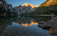 Morning mirror (leoskar) Tags: reflectionslovers reflections landscapes sunrise alps dolomites italy travel lake nikon nikonpassion waterscape colors ngc