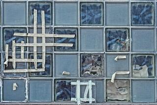 Taped Glass Block Window 3516 B