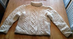 Aran turtleneck wool jumper (Mytwist) Tags: siw ume aran aranstyle aranjumper aransweater authentic fashion fuzzy fair fishermansweater vouge bulky neck cream ivory fisherman irish cabled craft cozy classic warm wool winter retro casual pullover passion handgestrickt handcraft heavy honeycomb mytwist modern timeless traditional textured turtleneck