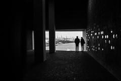 """Time can't be measured in days ..."" (revisited) (Özgür Gürgey) Tags: 2017 20mm bw d750 elbphilharmonie hafencity hamburg nikon voigtländer architecture borges bricks columns harbor silhouettes window germany"