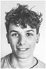 Drew Farquhar, Portrait (Gordon_Farquhar) Tags: drew farquhar cousin teenager boy teen hair eyes mouth smile nose ears pierced cool sixteen portrait black white bw happy