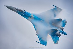 Ukrainian Flanker Fluffing (Mark_Aviation) Tags: ukrainian flanker fluffing sukhoi su27 su27p1m p1m riat riat17 royal international air tattoo raf fairford aircraft airplane airport aviation airbus airlines aerospace aeroplane arriving airshow arrival af airways military jet plane