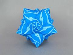 Helix (masha_losk) Tags: kusudama кусудама origamiwork origamiart foliage origami paper paperfolding modularorigami unitorigami модульноеоригами оригами бумага folded symmetry design handmade art