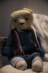 Old Friend (Heidi Riksfjord) Tags: teddy old love story life memories good lucky lovely happy friend best childhood bear 1970 vintage daddys oneear charming