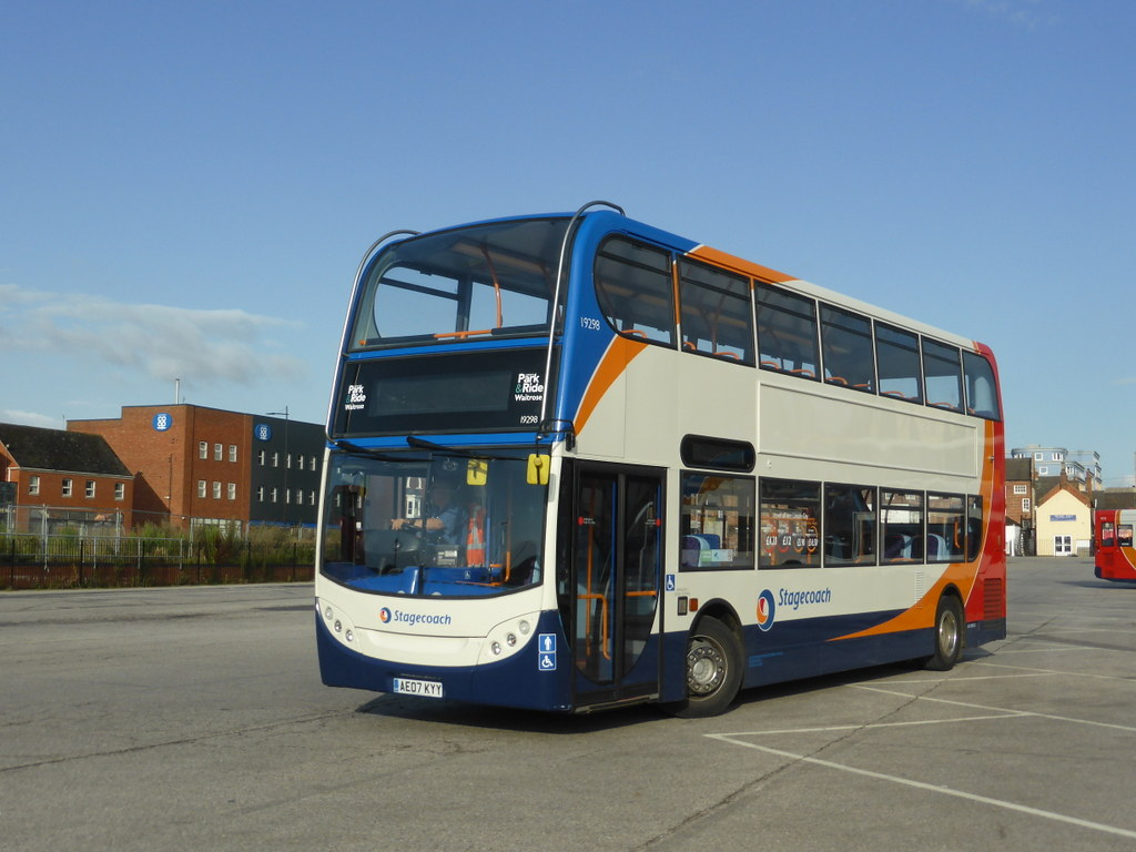 Stagecoach in Lincolnshire 19298 AE07 KYY, Lincoln Temporary Bus Stn  (sambuses) Tags: