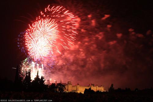 FR10 8366 Le 14 Juillet, la Fête Nationale Française. La Cité de Carcassonne, Aude, Languedoc