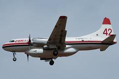 C-GYXC (sabian404) Tags: cgyxc conair convair cv440 440 cn 507 tanker 142 t142 42 t42 roberts field redmond airport rdm krdm