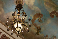 cherubs (floating_stump) Tags: milwaukee wisconsin pfisterhotel lobby ceiling chandelier fresco painting cherubs sky lookingup rebelt5i