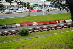 Marine Parade Station (zawtowers) Tags: southport merseyside north west england cloudy dry sunday 22nd august 2017 day out visit seaside resort destination beach sea marine parade station lakeside miniature railway lake attraction narrow gauge train tracks platform pleasureland