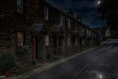 The Street (Kev Walker ¦ 8 Million Views..Thank You) Tags: architecture building canon1855mm canon700d clouds cumbria england hdr historic kirkbylonsdale picturesque postprocessing riverlune southlakeland town westmorland moon reflection
