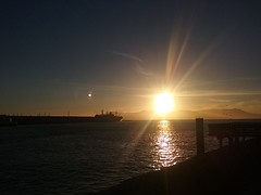 San Francisco Sunset (Richard M. Hull) Tags: sunset sanfrancisco san francisco golden gate ship sun birds bay