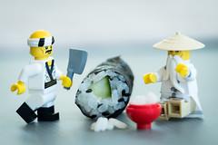 'Blade Ninja' Morimoto (minifigphoto) Tags: lego legophotography legoart miniatureart miniaturephoto minifigs cute kawaii minifigure legoaddict legoaddiction legolove legofun upclose macro toyphotography lovephotography geek toyphotographers sushi chef bowl ninjago legoninjago masterwu cook cut rice