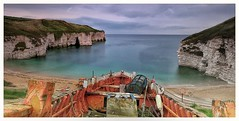 North landing . Stunning little bay (jamiekennedy644) Tags: fishing cliffs sky clouds boats sea eastcoast flamborough northlanding tranquil