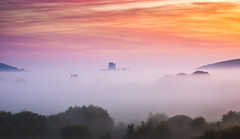 castle in the clouds (Anthony White) Tags: purbeckdistrict england unitedkingdom gb sunrise dorset jurrasic coast mist august slta77v alpha summer trees nature natur rollingmist landscape abandoned castle awesome anthonywhitesphotography oncewashome