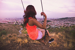 """Swing. (¡arturii!) Tags: wow amazing awesome superb interesting stunning impressive nice beauty great arturii arturdebattk """"canonoes6d"""" gettyimages travel trip tour route viatge holidays vacations bcn barcelona catalonia catalunya europe spain girl woman beautiful place view cool visual city viewpoint sunset sky summer clouds vegetation nature trekking weekend activities"""