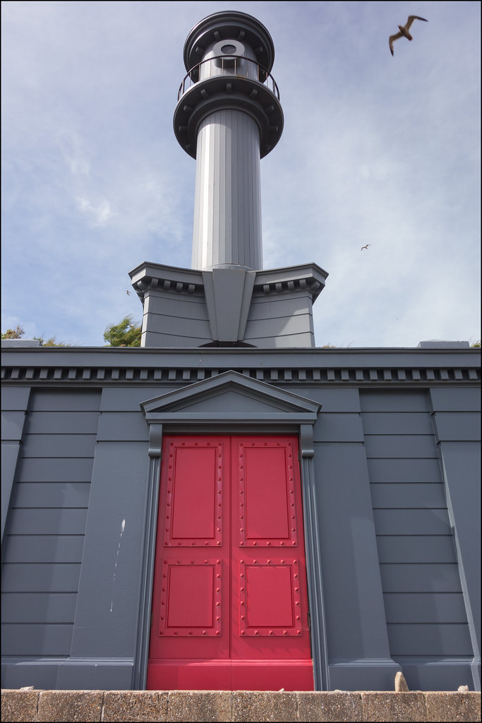 Sandgate beach hut and lighthouse in the Baroque style of Nicholas Hawksmoor  - Pablo Bronstein 2014 (6/17 ay38)