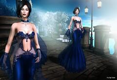 Shanon (Pau*Rubi Dexler*) Tags: tiffany gown dress blue girl lady jewel sl secondlife blog