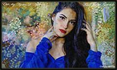 Paola (agostinodascoli) Tags: modella donna art digitalart digitalpainting javiergarrido texture photoshop photopainting colore azzurro impressionismo
