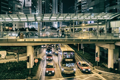 Utilizing the Layers of Mobility - Hongkong 48/188 (*Capture the Moment*) Tags: 2017 brücke flyover nachtaufnahmen nightshot sonya7m2 sonya7mii sonya7mark2 sonya7ii sonyfe2470mmf4zaoss sonyilce7m2 traffic verkehr
