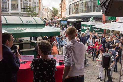 Mit Tiemo Wölken MdEP und Hanna Naber habe ich auf dem Stadtfest über Europa diskutiert.